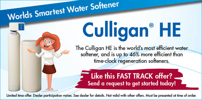World's Smartest Water Softner. Culligan HE>